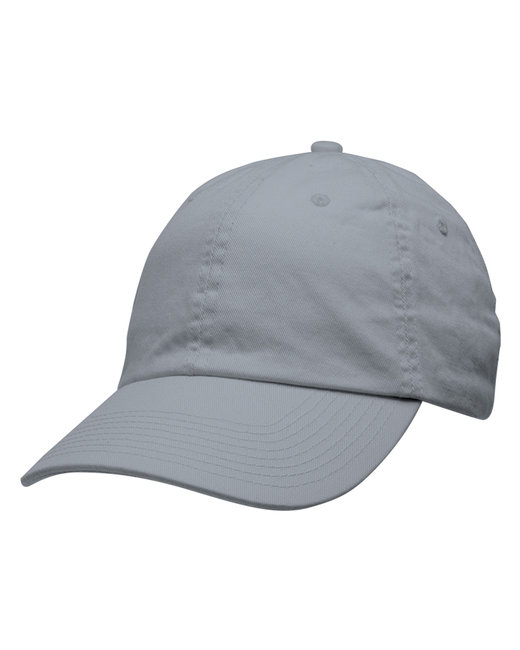 Bayside 100% Washed Chino Cotton Twill Unstructured Cap - Charcoal