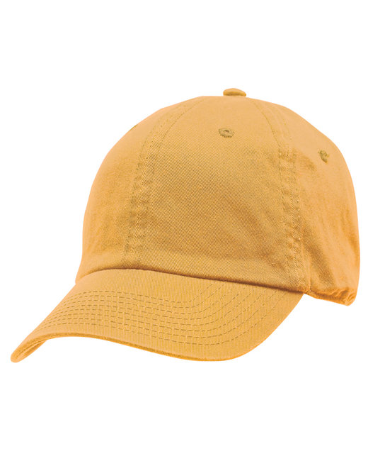 Bayside 100% Washed Chino Cotton Twill Unstructured Cap - Gold