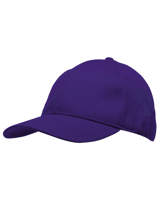 Bayside 100% Washed Chino Cotton Twill Structured Cap - Purple