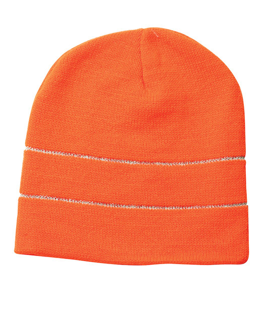 Bayside 100% Acrylic Beanie - Bright Orange