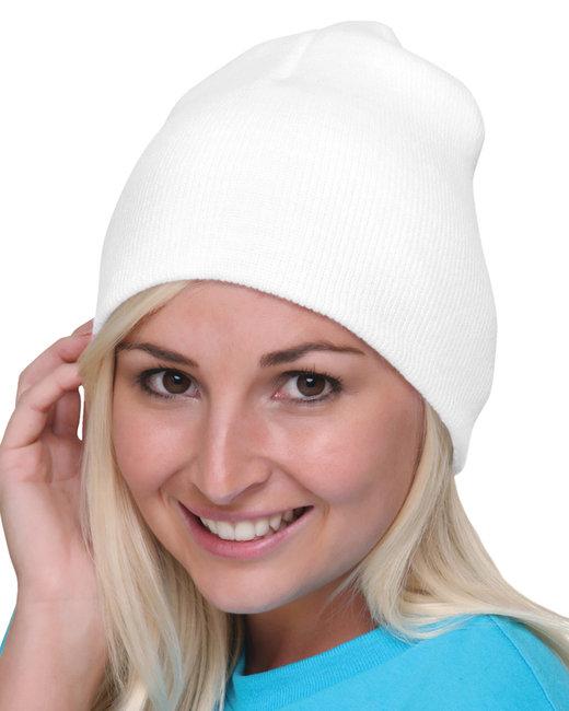 Bayside 100% Acrylic Beanie - White
