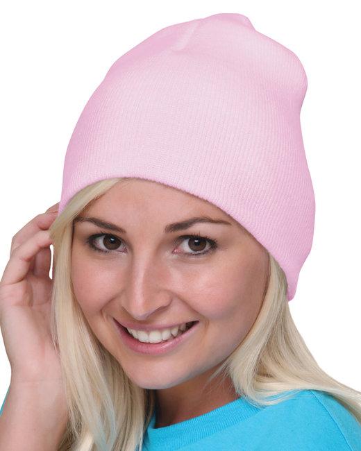 Bayside 100% Acrylic Beanie - Pink