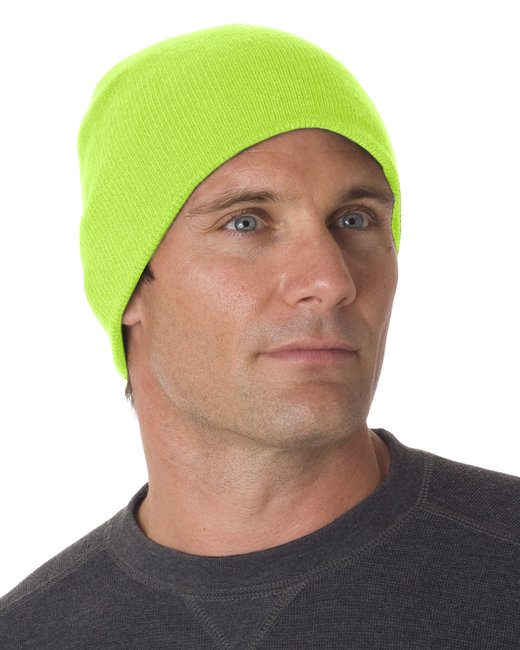 Bayside 100% Acrylic Beanie - Lime Green