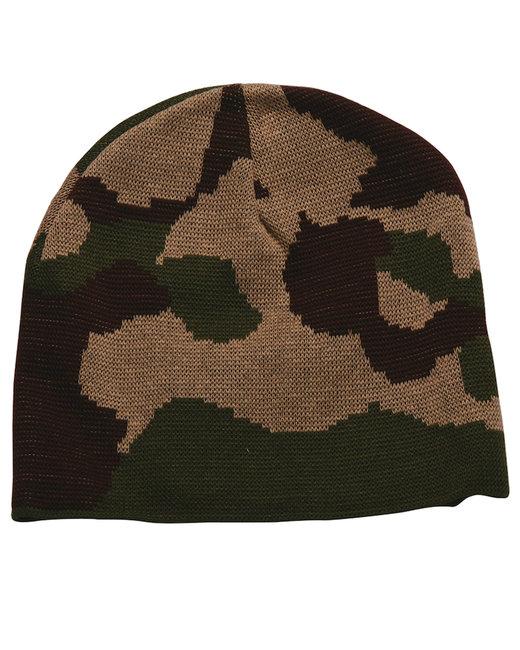 Bayside 100% Acrylic Camouflage Beanie - Desert