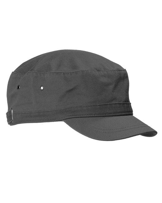 Big Accessories Short Bill Cadet Cap - Charcoal