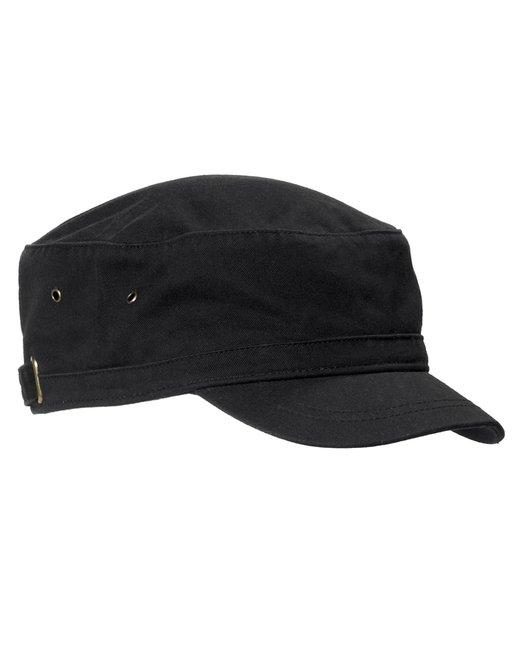 Big Accessories Short Bill Cadet Cap - Black