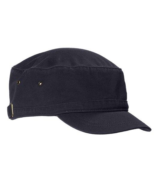 Big Accessories Short Bill Cadet Cap - Navy