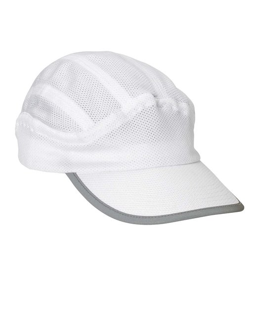 Big Accessories Mesh Runner Cap - White