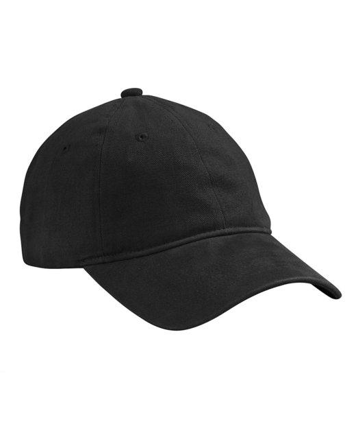 Big Accessories Brushed HeavyWeight Twill Cap - Black