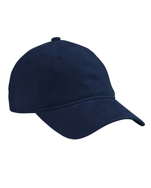 Big Accessories Brushed HeavyWeight Twill Cap - Navy