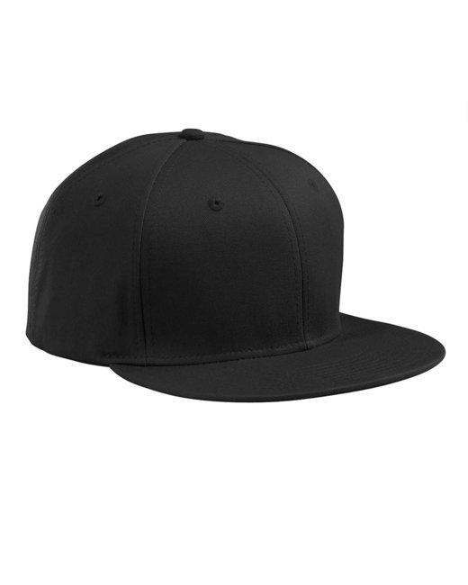 Big Accessories Flat Bill Cap - Black