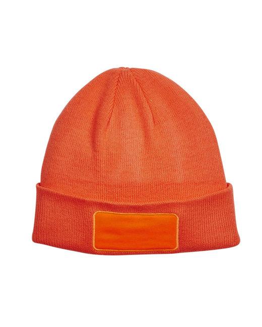 Big Accessories Patch Beanie - Neon Orange