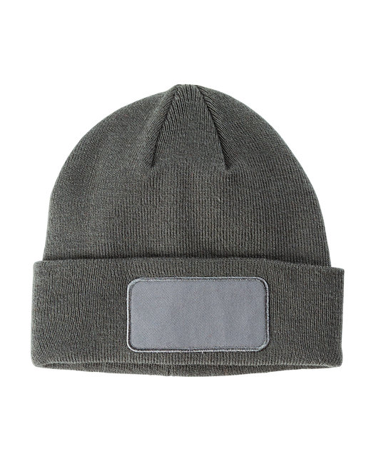 Big Accessories Patch Beanie - Gray