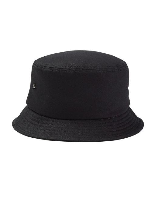 Big Accessories Metal Eyelet Bucket Cap - Black