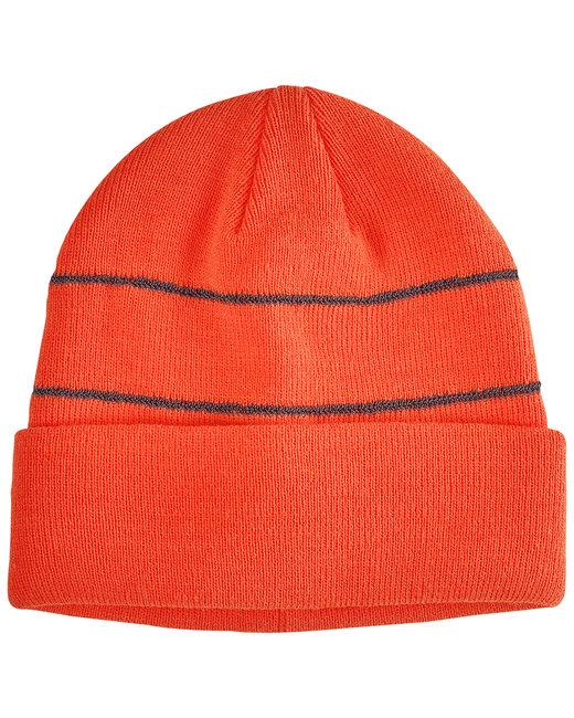Big Accessories Reflective Beanie - Neon Orange