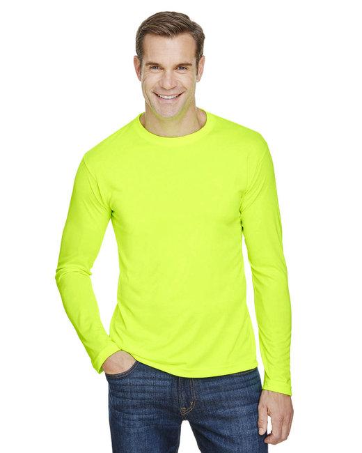 Bayside Unisex 4.5 oz., 100% Polyester Performance Long-Sleeve T-Shirt - Lime Green