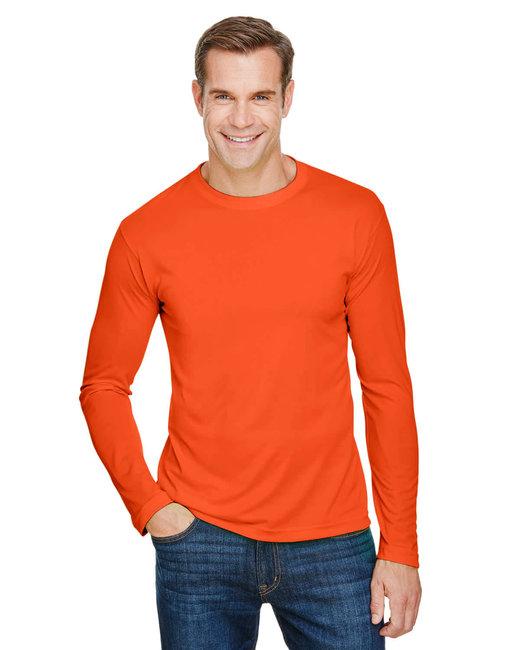 Bayside Unisex 4.5 oz., 100% Polyester Performance Long-Sleeve T-Shirt - Bright Orange