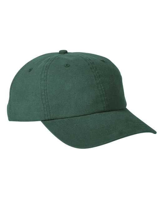 Big Accessories Heavy Washed Canvas Cap - Bottle Green