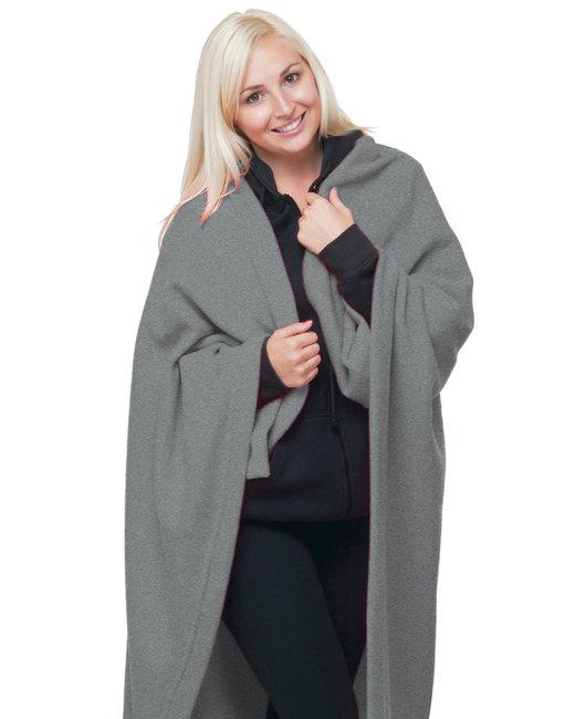 Bayside Polyester Stadium Fleece Blanket - Dark Ash