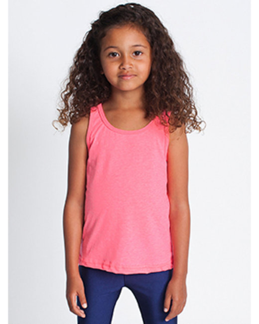 American Apparel Toddler Poly-Cotton Tank - Neon Hthr Pink