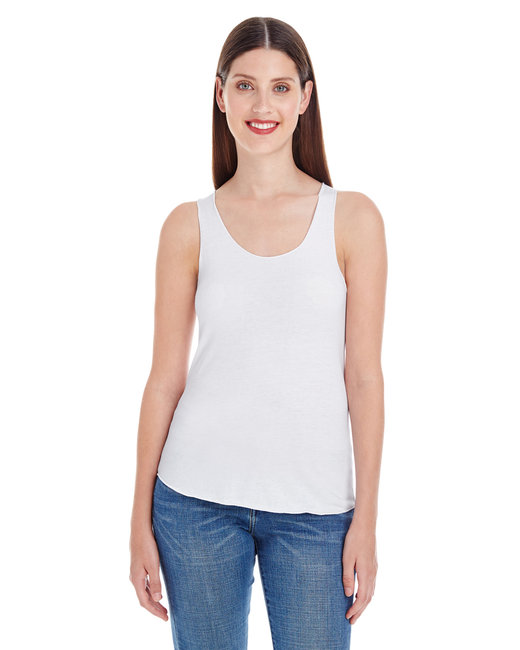 American Apparel Ladies' Poly-Cotton Racerback Tank - White