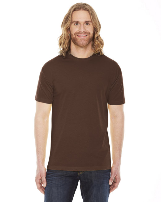 American Apparel Unisex Poly-Cotton Short-Sleeve Crewneck - Brown