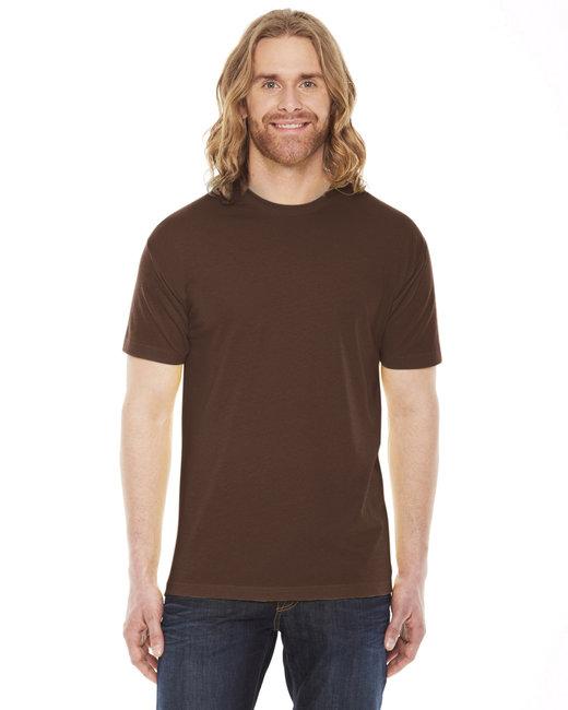 American Apparel Unisex Poly-Cotton Short-Sleeve Crewneck - Brown