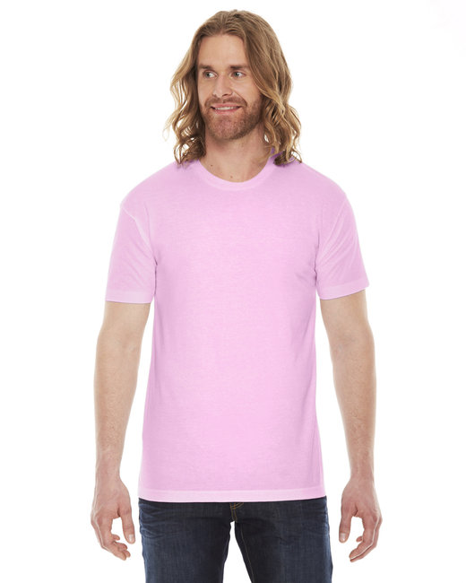 American Apparel Unisex Poly-Cotton Short-Sleeve Crewneck - Pink