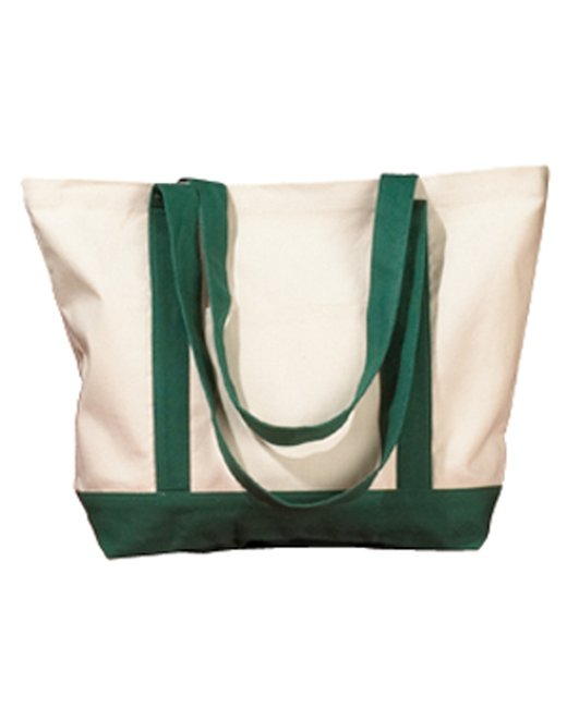 BAGedge 12 oz. Canvas Boat Tote - Natural/ Forest