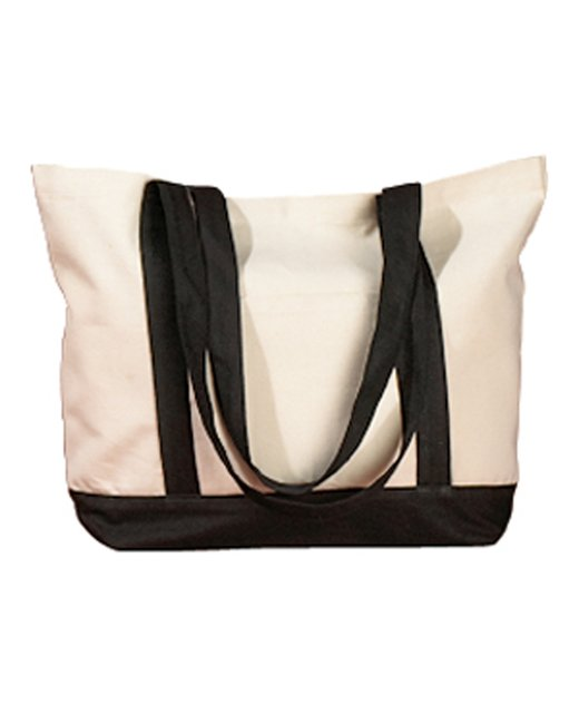 BAGedge 12 oz. Canvas Boat Tote - Natural/ Black