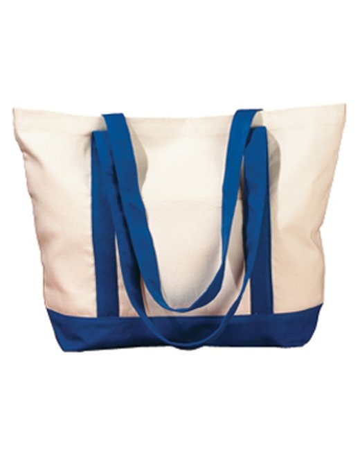 BAGedge 12 oz. Canvas Boat Tote - Natural/ Royal