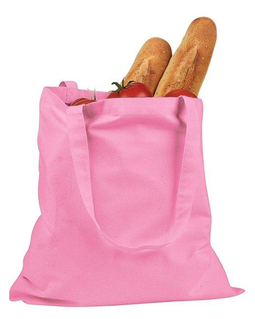 BAGedge 6 oz. Canvas Promo Tote - Pink