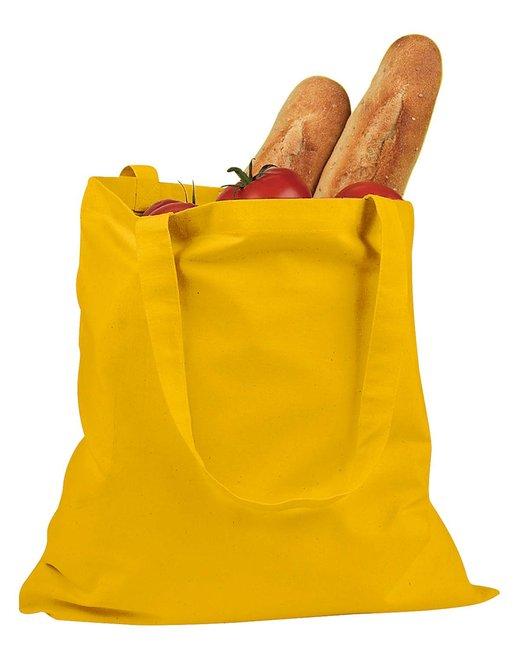 BAGedge 6 oz. Canvas Promo Tote - Yellow