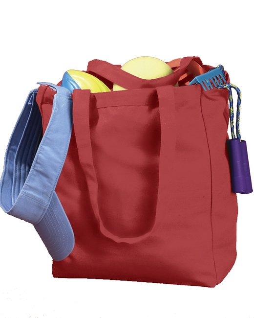 BAGedge 12 oz. Canvas Book Tote - Red