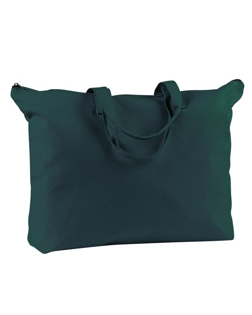 BE009 BAGedge 12 oz. Canvas Zippered Book Tote