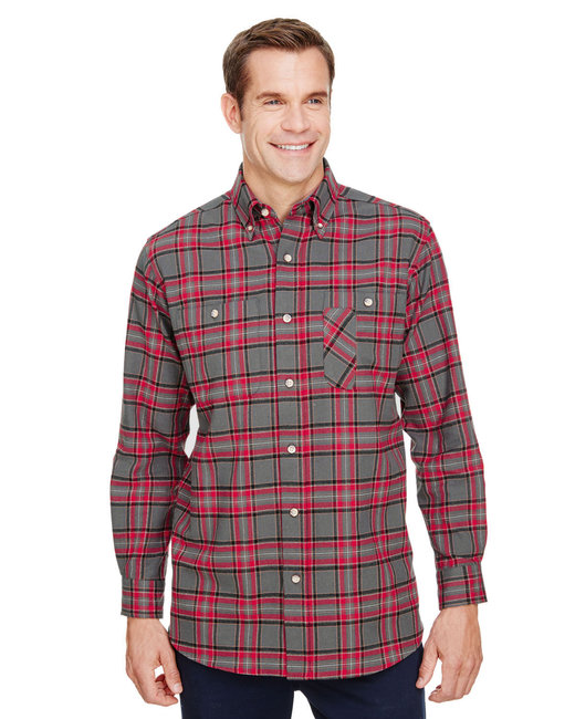 Backpacker Men's Yarn-Dyed Flannel Shirt - Red Gray