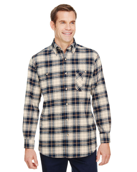 Backpacker Men's Tall Yarn-Dyed Flannel Shirt - Cream Blue