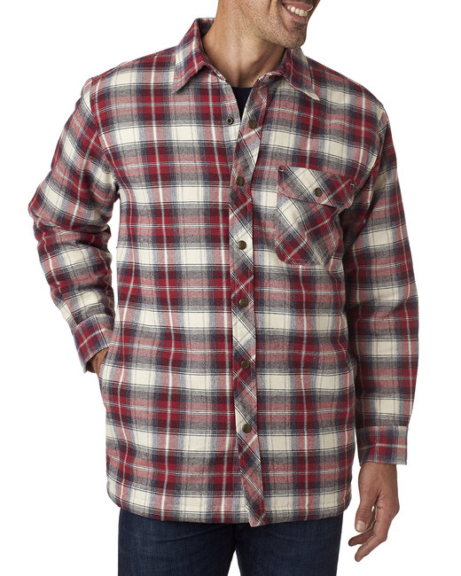 Backpacker Men's Tall Flannel Shirt Jacket with Quilt Lining - Independent