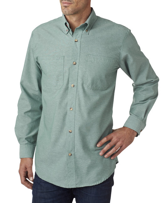 Backpacker Men's Yarn-Dyed Chambray Woven - Green