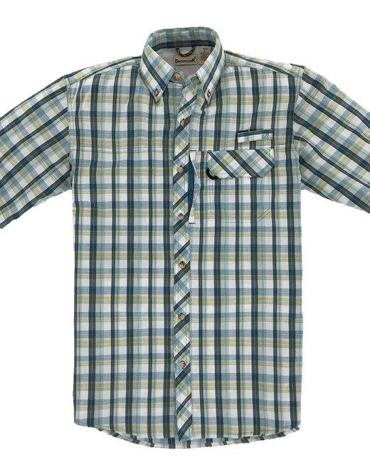 Backpacker Men's Sport Utility Short-Sleeve Plaid Shirt - Teal