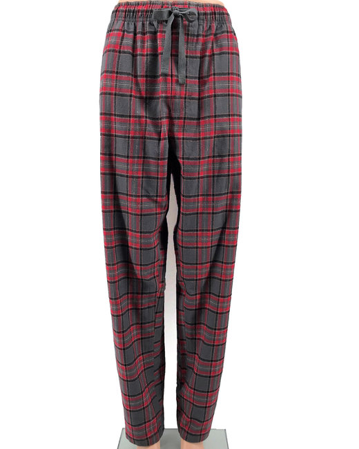 Backpacker Ladies' Flannel Lounge Pants - Red Gray