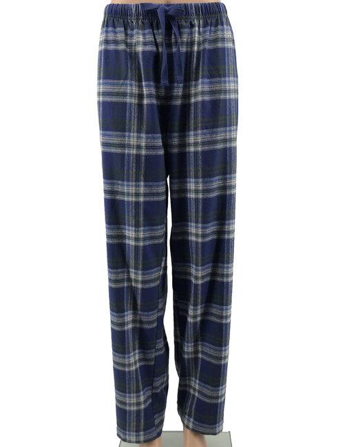 Backpacker Ladies' Flannel Lounge Pants - Blue/ Green