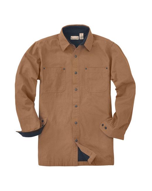 Backpacker Men's Tall Great Outdoors Long-Sleeve Jac Shirt - Brown