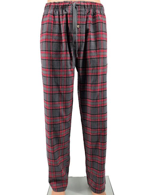 Backpacker Men's Flannel Lounge Pants - Red Gray