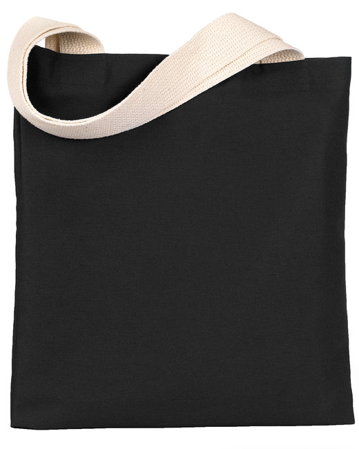 Bayside 7 oz., Poly/Cotton Promotional Tote - Black