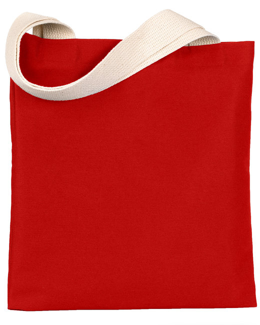 Bayside 7 oz., Poly/Cotton Promotional Tote - Red