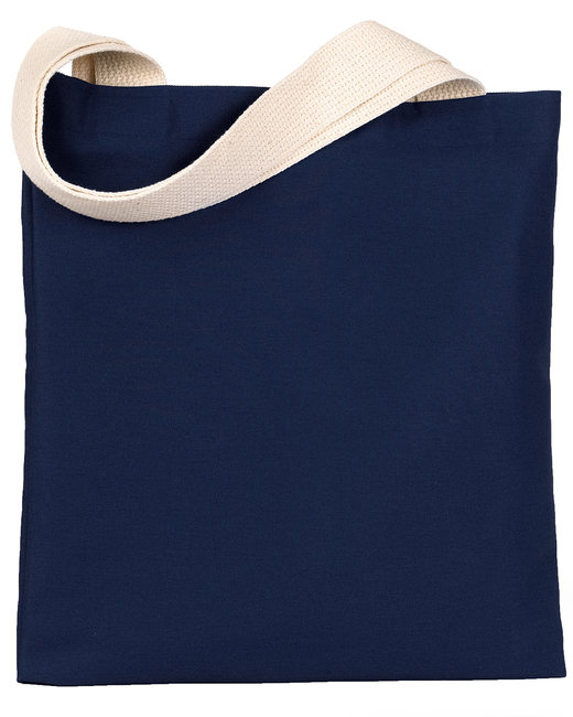 Bayside 7 oz., Poly/Cotton Promotional Tote - Navy