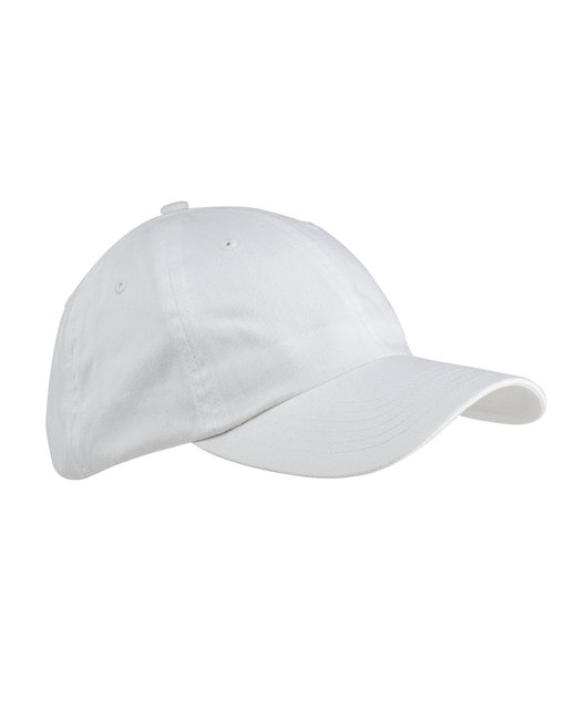 Big Accessories 6-Panel Brushed Twill Unstructured Cap - White