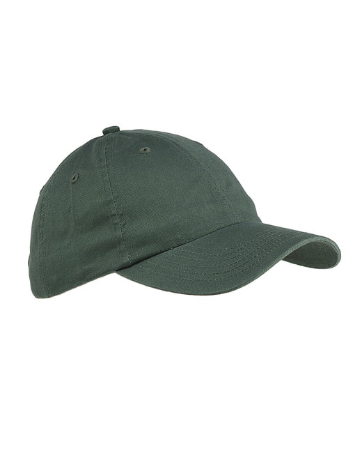 Big Accessories 6-Panel Brushed Twill Unstructured Cap - Olive