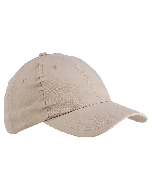 Big Accessories 6-Panel Brushed Twill Unstructured Cap - Stone